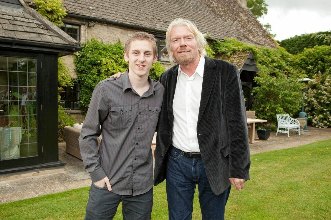Matt Lovett and Richard Branson