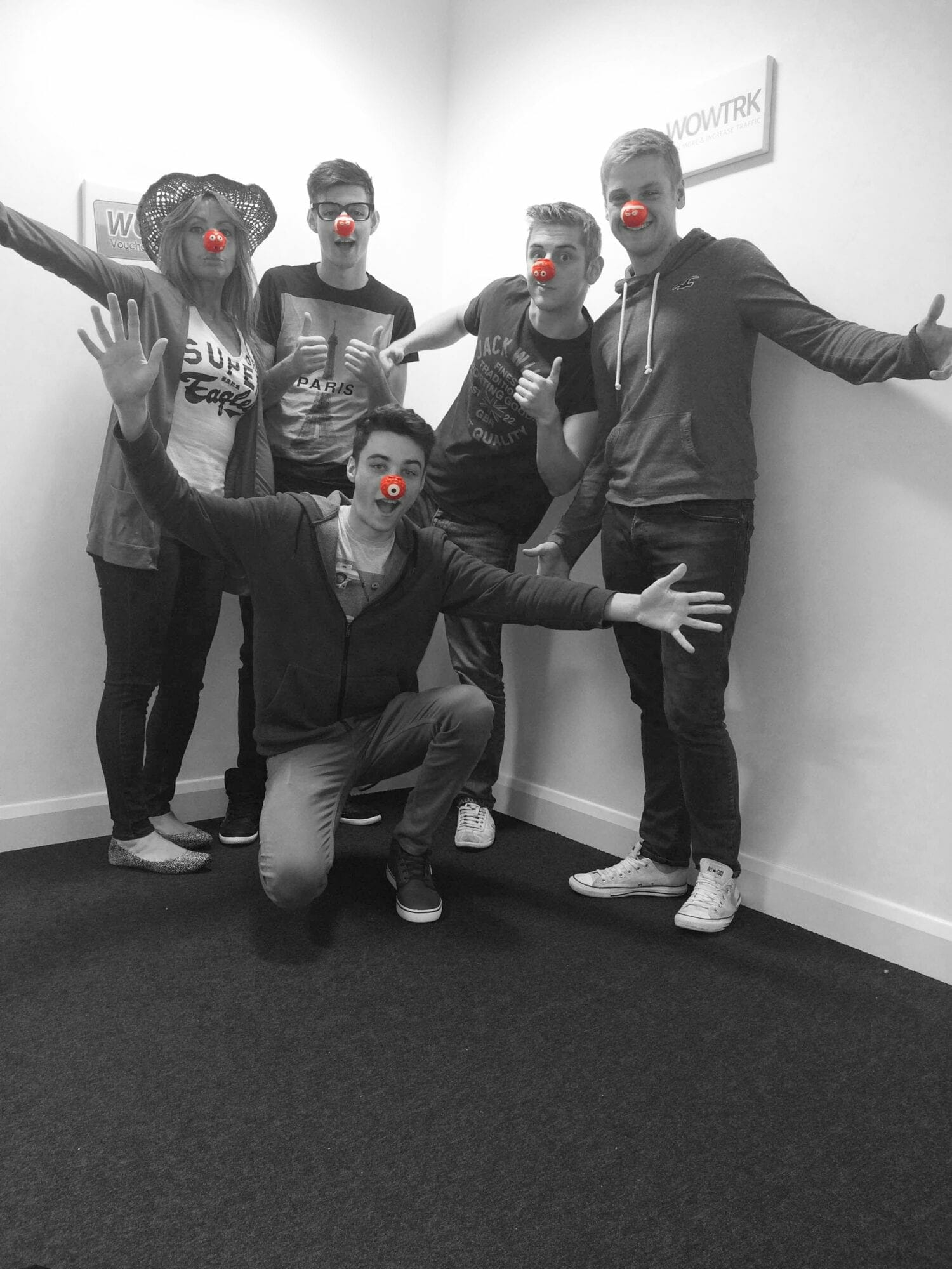 Red Nose BW