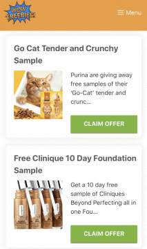 WOW Freebies new design on mobile devices.